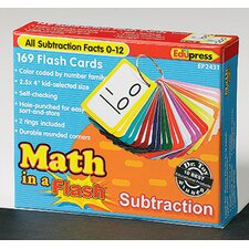 Math in a Subtraction Flash Cards