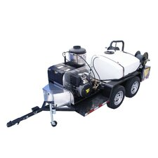 3000 PSI Hot Water Gas Trailer Mounted Pressure Washer with 13 HP Honda Engine