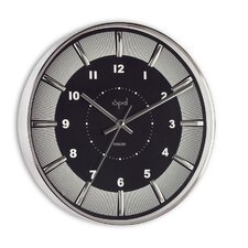 "12"" Round Stainless Steel Case Wall Clock"