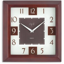 "12"" Square Wooden Case Wall Clock"