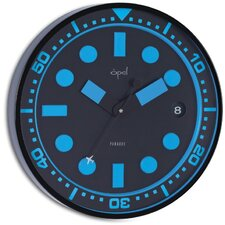 Stainless Steel Powder Coated Round Case Wall Clock