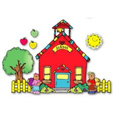 Schoolhouse Bulletin Board Cut Out Set