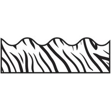 Zebra Print Scalloped Classroom Border (Set of 3)