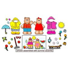 Mr. And Mrs. Weather Bear Bulletin Board Cut Out