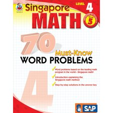 70 Must Know Word Problems Level 4 Book