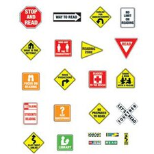 Reading Road Signs Bulletin Board Cut Out Set