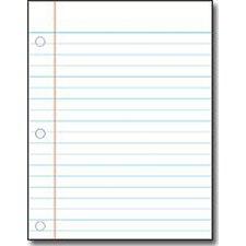 Notebook Paper Chart (Set of 3)