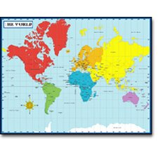 Chartlet Map Of The World 17 X 22 (Set of 3)
