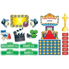 Lights Camera Action Bulletin Board Cut Out Set