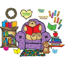 Cozy Reading Center Bulletin Board Cut Out