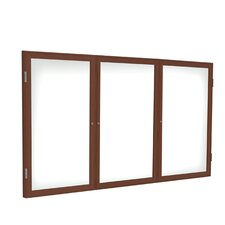 3 Door Enclosed Magnetic Whiteboard