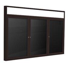 3 Door Aluminum Frame Enclosed Letterboard