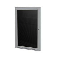 1-Door Aluminum Frame Enclosed Vinyl Letter Board