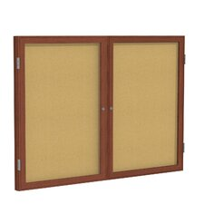 2 Door Enclosed Bulletin Board