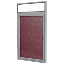 1 Door Outdoor Enclosed Bulletin Board, 3' x 3'