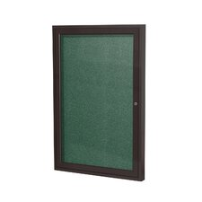 1 Door Outdoor Enclosed Bulletin Board