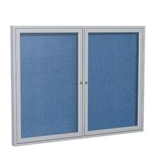 2 Door Outdoor Enclosed Bulletin Board
