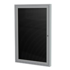 1-Door Aluminum Frame Enclosed Flannel Letter Board, 3' x 3'