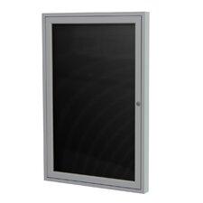 1-Door Aluminum Frame Enclosed Flannel Letter Board