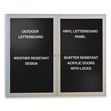 Outdoor Enclosed Letter Board, 4' x 3'