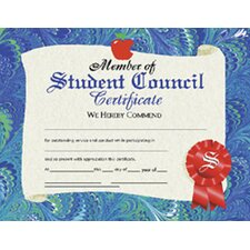 Student Council Certificate (Set of 30)