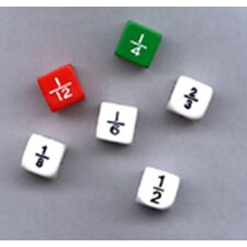 Fraction Dice Numbers (Set of 6)