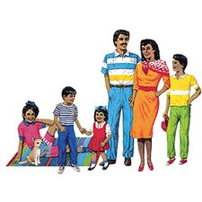 Hispanic Family Bulletin Board Cut Out Set
