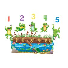 5 Speckled Frogs Bulletin Board Cut Out
