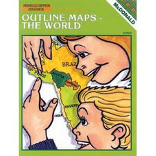Outline Maps The World Book (Set of 2)