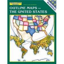 Outline Maps The Us Grade 6-9 Book (Set of 2)