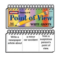 Point of View Write Abouts Grade 4-8 Book