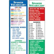 Spanish Vocabulary Smart Bookmark