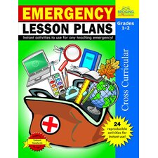 Emergency Lesson Plans Grade 1 - 2 Book