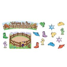 Welcome to Our Corral Bulletin Board Cut Out Set