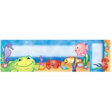 Seat and Cubby Signs Under The Sea Name Tag