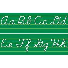 Alphabet Lines Contemporary Cursive Bulletin Board Cut Out
