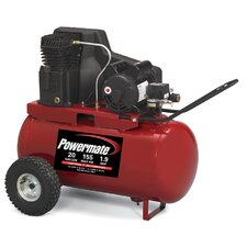 20 Gallon Cast Iron Oil Lubricated Belt Drive Air Compressor