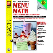 Menu Math Ice Cream Parlor Book