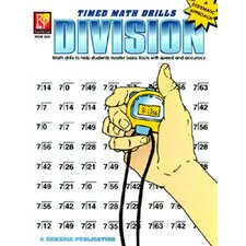 Timed Math Facts Division Book
