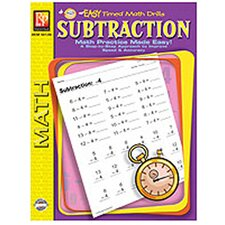 Easy Timed Math Drills Subtraction Book