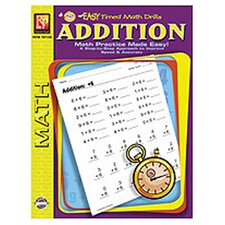 Easy Timed Math Drills Addition Book