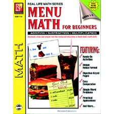 Menu Math for Beginners Book
