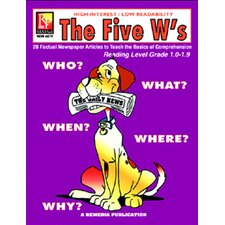 The 5 Ws 1st Grade Reading Book