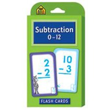 Subtraction 0-12 Flash Cards (Set of 3)