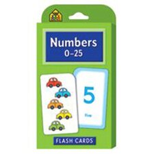 Numbers 0-25 Flash Cards (Set of 168)