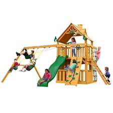 Chateau II Clubhouse with Amber Posts Cedar Swing Set