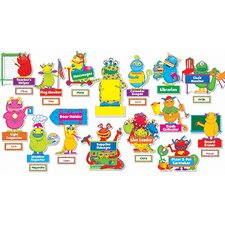5 Piece Monsters At Work Grade Bulletin Board Cut Out Set