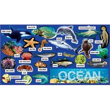 Ocean Plants and Animals Mini Bulletin Board Cut Out