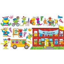 Monsters Back To School Bulletin Board Cut Out