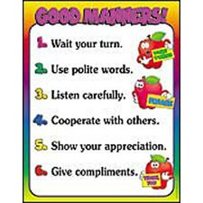 Good Manners Friendly Chart (Set of 3)